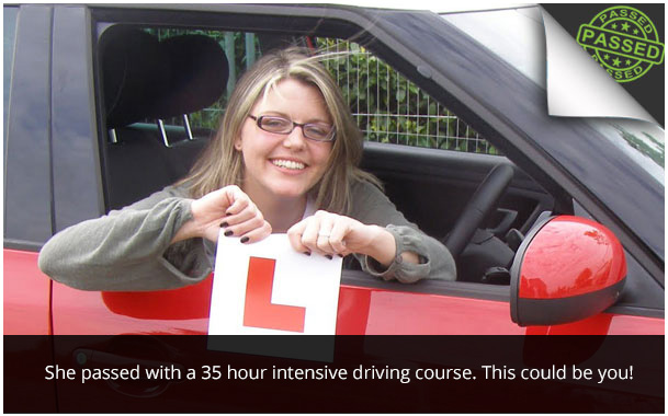 intensive driving course glasgow pass test